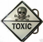 Toxic - Belt Buckle + display stand